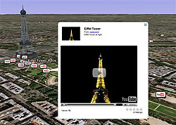 YouTube lets users map videos onto Google Earth
