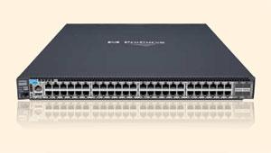 Коммутаторы HP ProCurve серии 6600 обеспечивают реверсивную продольную вентиляцию для поддержки системы горячих и холодных коридоров в ЦОДе