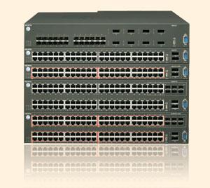 Коммутаторы серии ERS5600 фирмы Nortel позволяют создавать «коммутирующий кластер» благодаря 120-гигабитной стекирующей шине