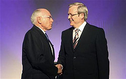 His screen-based soft-sell to the young has left veteran 68-year-old conservative Prime Minister John Howard scrambling to match tactics as he struggles in the polls ahead of the November 24 election.
