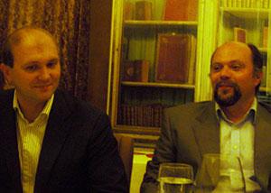 И. Смирнов (слева) и Н. Лебединский